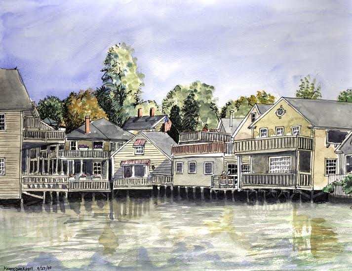 Dan Blauweiss Original watercolor of Kennebunkport Maine